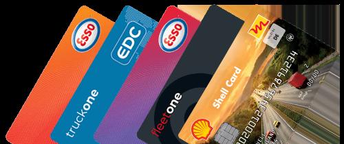 Vergleichen Sie Novofleet, Esso und EDC Tankkarten